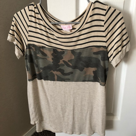 Pink Lily Tops - PInk Lily Boutique shirt. Worn once!